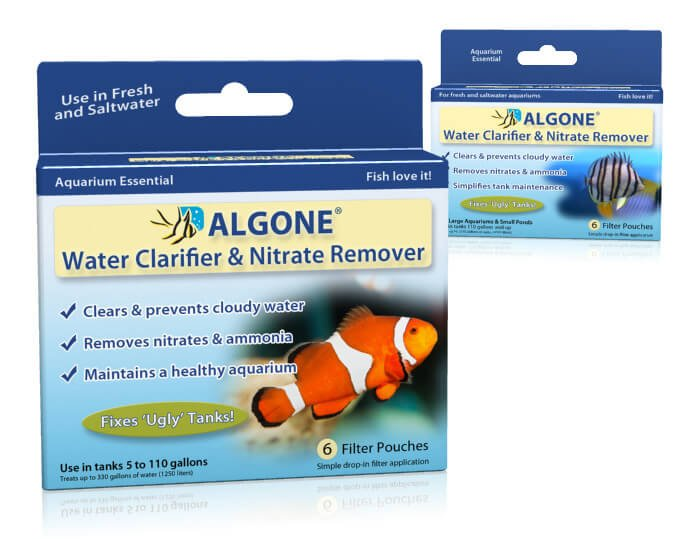Clear cloudy aquarium water remove aquarium nitrate algone for Cloudy water in fish tank solutions