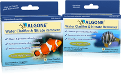 Clear cloudy aquarium water & remove nitrates and other harmful toxins and nutrients