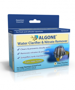 Algone for large aquariums. Clear cloudy water, clear green water, remove nitrate from the aquarium.