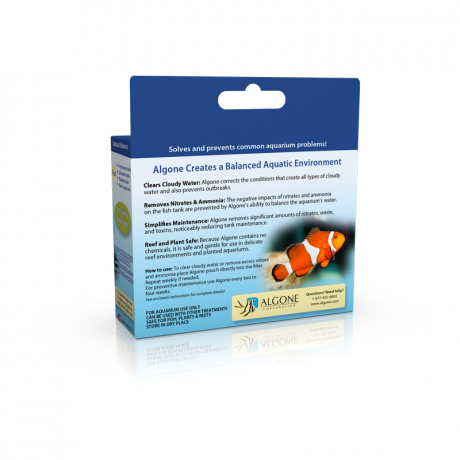 Use Algone in fresh and saltwater aquariums
