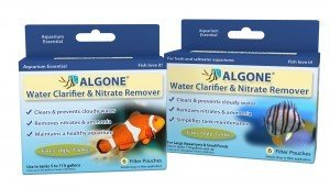 Clear cloudy aquarium water and remove nitrates with Algone